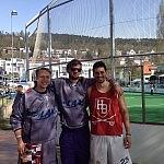 Julius, Benjamin und Henning (von links)